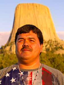 Chairman Brandon Sazue of the Crow Creek Sioux Tribe